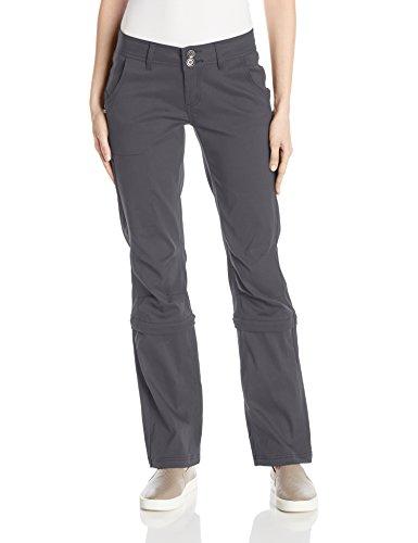 prAna Women's Standard Halle Convertible Pant, Coal, 8 Reg Inseam