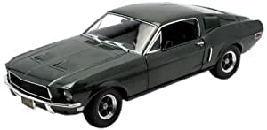 Greenlight Collectibles 12822 Bullit Diecast - Vehículo en miniatura Ford Mustang Fastback GT 390 de 1968 (escala 1:18)