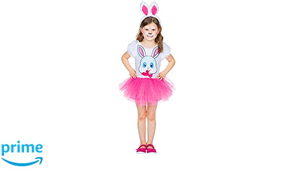 Disfraz Infantil Conejo Manta Talla 104 - 128 Vestido Rosa Tul ...