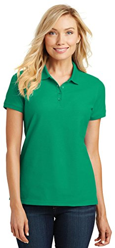 Port Authority Ladies Core Classic Pique Polo. L100 Bright Kelly Green XL