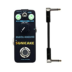 Sonicake Cloud Chorus Guitar Effects Pedal Classic BBD-Style Analog Chorus Sound 6 Inch Guitar Patch Cable Included