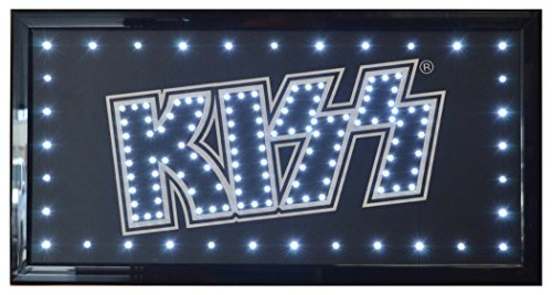 KISS Rock Band Flashing LED Hanging Man Cave Wall Sign for Garage, Bar, Mancave ()