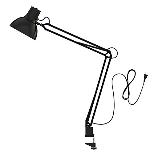 ToJane Swing Arm Desk Lamp, Architect Lamp&Clip Lamp, Work/Study Lamp, Eye-Care&Amer-Style Lamp, Studio/Office Lamp - Arm Table Lamp Angle