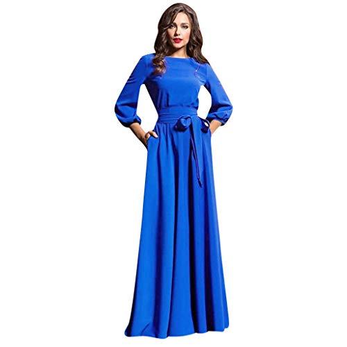 aihihe Women's Strapless Maxi Dress Plus Size Tube Top Long Skirt Sundress Cover Up Blue