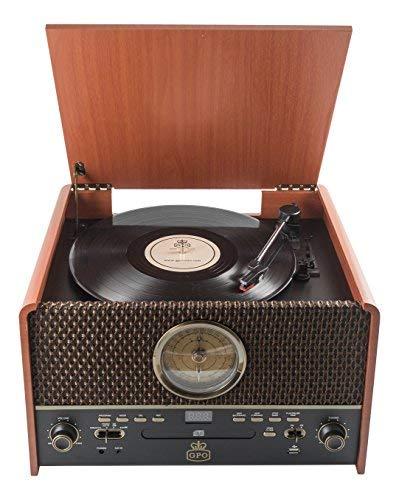 GPO Retro Chesterton Madera - Tocadiscos (Madera, 33,45,78 RPM ...