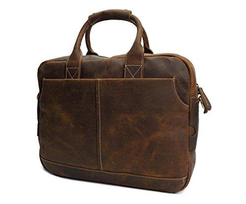 Bolso BAO Viaje Bolso y de maletín Mensajero computadora Compras los de brown Cuero la de Trabajo Durable usable Brown Hombres Bolsa de Vintage ddxqagnA4r
