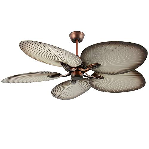 Palm Island 52-Inch Tropical Ceiling Fan, 5 ABS Palm Leaf Blades, for Indoor/Outdoor, Akronfire