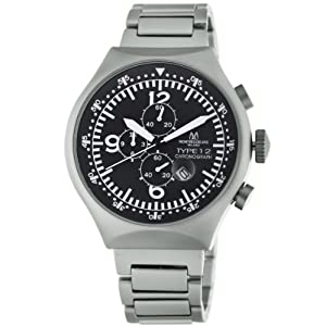 Montres De Luxe Men's 50 MM Aluminum Chronograph Watch
