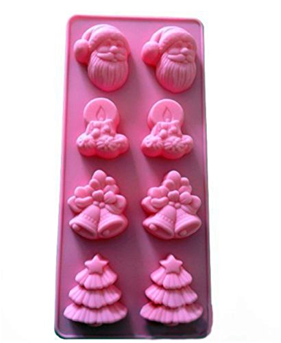 VolksRose Silicone Mould for Chocolate, Jelly and Candy etc - Random colors-Socks Snowman Christmas Bells Christmas Tree
