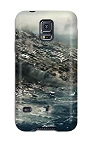 Mary David Proctor Perfect Tpu Case For Galaxy S5/ Anti-scratch Protector Case (large Pieces Of Land With Buildings On Them Sinking Into The Sea) by lolosakes