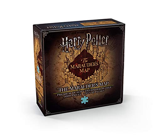 The Noble Collection Harry Potter Marauders Map 1000pc Jigsaw Puzzle – 35 x 13in (89 x 33cm) Oversized Puzzle – Harry…