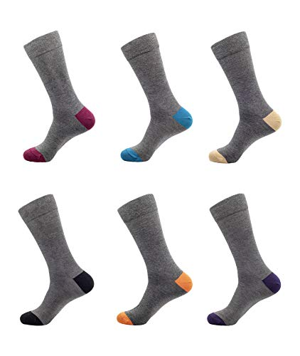 1Sock2Sock Men's Bamboo Thin Crew Socks - Super Soft & Breathable Colorful Patterns Dress Socks