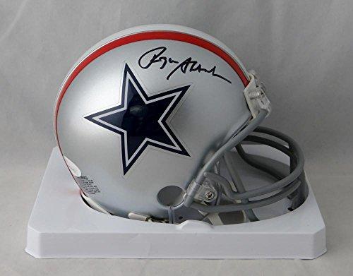 Roger Staubach Autographed Dallas Cowboys 1976 TB Mini Helmet- JSA Witnessed Auth