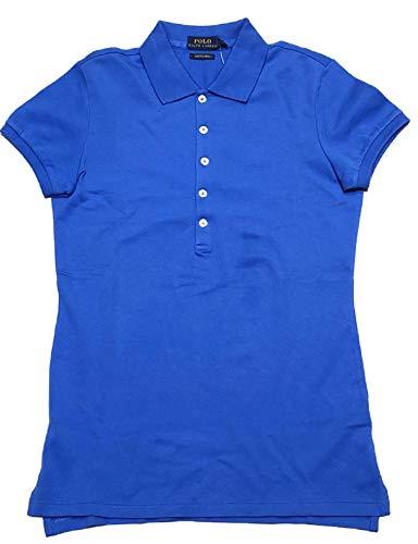 Polo Ralph Lauren Womens Skinny Fit Stretch Mesh Polo Shirt (Brill Blue, Small) (Gestreift Polo Ralph Lauren)