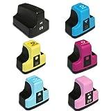 HI-VISION HI-YIELDS Compatible Ink Cartridge Replacement for HP 02 (Black,Cyan,Magenta,Yellow,Light Cyan,Light Magenta,6-Pack)