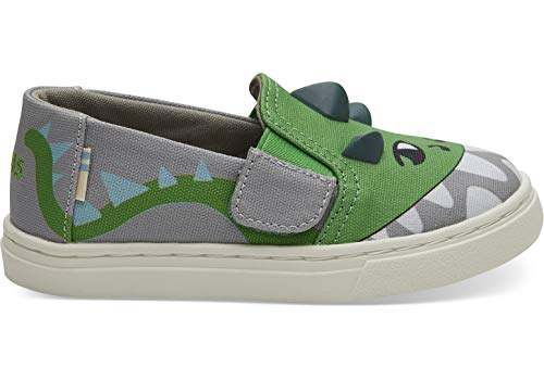 TOMS Luca Tiny Boys' Infant-Toddler Slip On 5 M US Toddler Grey ()