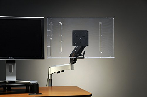 Vu Ryte Monitor Arm Document Copy Holder, Horizontal to Monitor, 150 Sheet Capacity, Holds Personal Technology, 18 Inches Wide, Clear (VUR18MA) (Mount Adhesive Monitor)