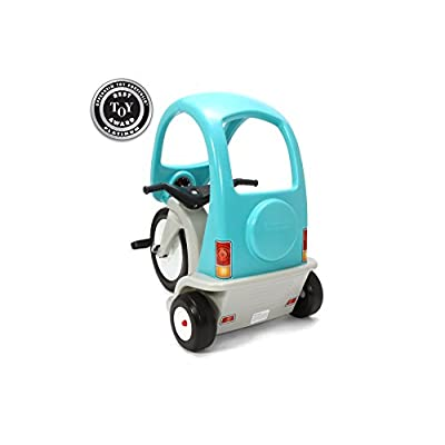 Simplay3 Kids Super Coupe Pedal Powered Ride-On Toy w/ Roof and 3-Position Seat: Toys & Games