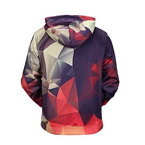 Suéter Impresión 3d Geométrica Otoño Xl Invierno Pareja Capucha Gmyanwy Marea Tarjeta Original Con Digital De E Rejilla xzCqCYUw