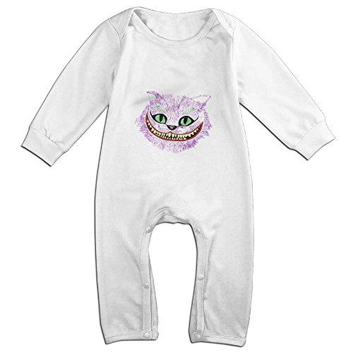 Raymond Cheshire Cat Head In The Joker Long Sleeve Bodysuit Baby Onesie White 6 (Costumes In Orlando)