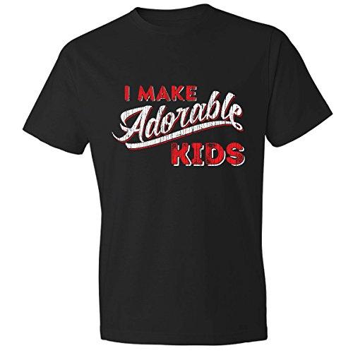 Texas Tees Shirt New Dad, I Make Adorable Kids Tshirt, Black -