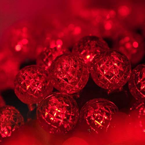 G12 LED Razzberry Red Prelamped Light Set, Green Wire - 70 G12 Red LED String Lights, 4