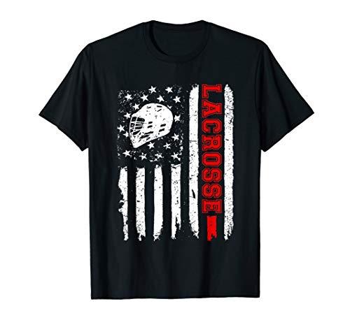 Lacrosse American Flag Distressed T-Shirt