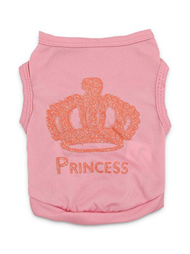 DroolingDog Pet Dog Clothes Pink Shirt Puppy Clothes Tank Top for Small Dogs Girl, (Tank Dog Costume)