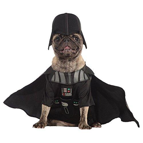 [Hot Sale! Darth Vader Pet Costume Pet Star Wars Halloween Fancy Dress (X-Large, Black)] (Witch Wig Stripes)