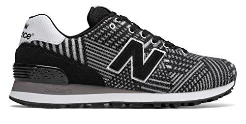 聞く選出する特派員(ニューバランス) New Balance 靴?シューズ レディースライフスタイル 574 Beaded Black with White ブラック ホワイト US 6.5 (23.5cm)