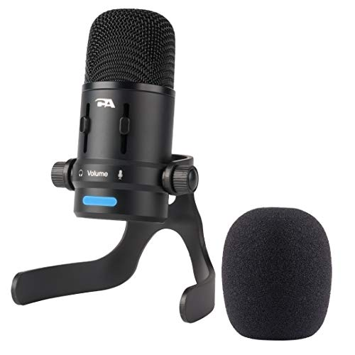 Cyber Acoustics USB Condenser Microphone for Podcasts, Gaming, Vocal, Music, Studio and Computer Recordings - Mic compatible with PC and Mac - Dual Recording Patterns (CVL-2006) ()