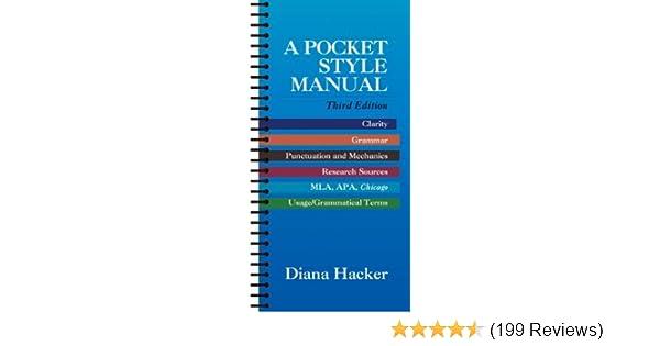 A Pocket Style Manual Diana Hacker 9780312204884 Amazon Books