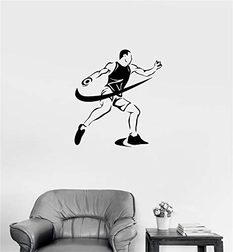 xsoale Wall Decal Sticker Art Mural Home Decor Quote Sports Competitions Athletics Discus Throwing