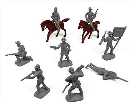Civil War Soldier Mounted metal toy figures Soldiers  I18