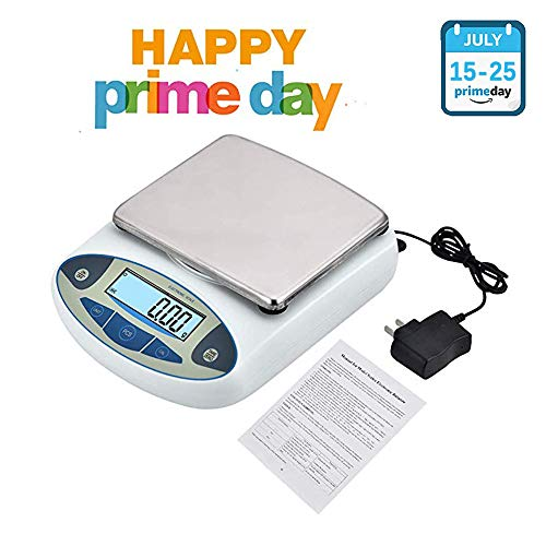 INLOVEARTS High Precision Lab Scale,Digital Analytical Electronic Laboratory Balance Scale,Gold Jewelry Scales Kitchen Precision Weighing Electronic Scales,Calibrated & Ready to use (5000g,0.01g)