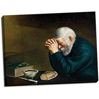 Amazon Com Art Prints Inc Daily Bread Man Praying At