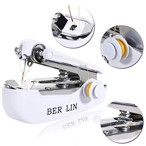 Random Colors Xigeapg Portable Sewing Outdoor Small Portable Mini Hand-held Manual Sewing Machine Travel Pocket Sewing Machine