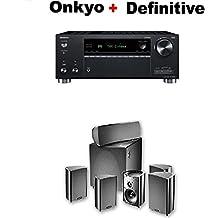 Onkyo TX-RZ730 9.2 Channel 4k Network A/V Receiver Black + Definitive Technology ProCinema 600 5.1 Home Theater Speaker System Bundle