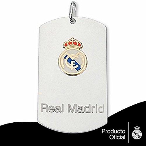 Plaque pendentif Real Madrid bouclier droit Plata or [6785GR] - Modèle: 30-008 - personnalisable - ENREGISTREMENT inclus dans le prix