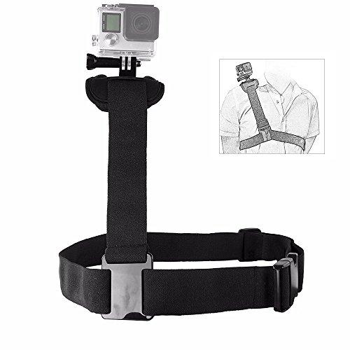 TEKCAM Action Camera Shoulder Strap Mount Compatible Gopro Hero 6 5 Crosstour 4K AKASO EK7000 Brave 4 Campark APEMAN Chest Harness Belt