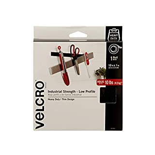 VELCRO Brand Industrial Strength - Low Profile | Superior Strength, 30% Less Thickness Than Our Regular Industrial Strength Products | Size 10ft x 1in | Tape, Black (B000WFRMBI) | Amazon price tracker / tracking, Amazon price history charts, Amazon price watches, Amazon price drop alerts