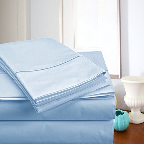 MEGA SALE TODAY! Luxury Sheets On Amazon-Highest Quality! Luxury 800 Thread count 100% Egyptian Cotton Ultra Soft Sheet Set,Queen - Blue (800 Tc Sheets Queen)