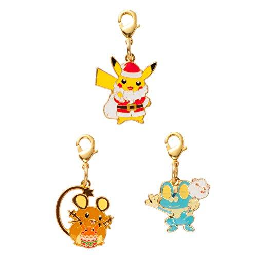 Pokemon center Pikachu Christmas 2014 Metal Charm Set
