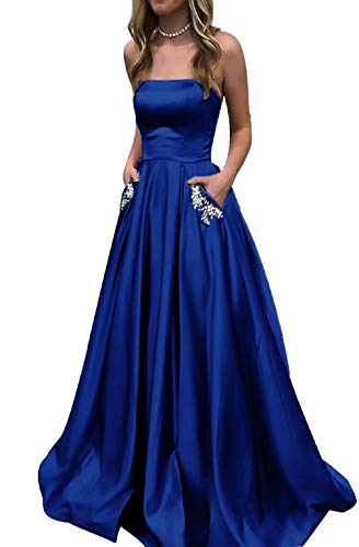 less Dresses Ball Gown Evening Prom Party Dress MNQ181111-Royal Blue2-US8 ()
