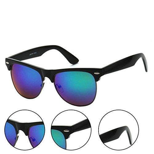 MLC Eyewear Classic Single Bar Half Frame Sunglasses - - B&g Sunglasses