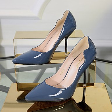 Black Casual Blue 2 4in Blushing blue Slingback Women's Pink 3 PU Heels Burgundy ggx 2in Slingback LvYuan Spring 67aY1