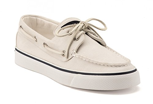 Top Bahama Sider weiß Damen Bootsschuh Canvas Sperry U4Swq
