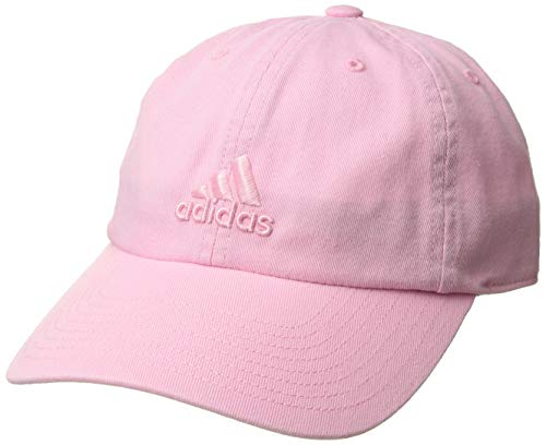 adidas Women's Saturday Relaxed Adjustable Cap, True Pink, One Size