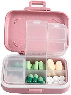 BUBM Portable Pill Organizer 6 Scomparti Portapillole Tascabile Giornaliero Pillole Contenitore Pillole Organizzatore Bianca