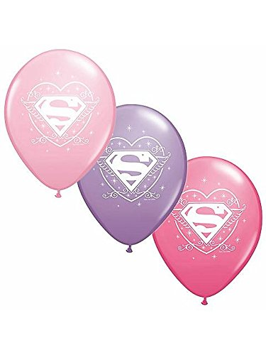 Supergirl Party Supplies 12' Helium Quality Latex -